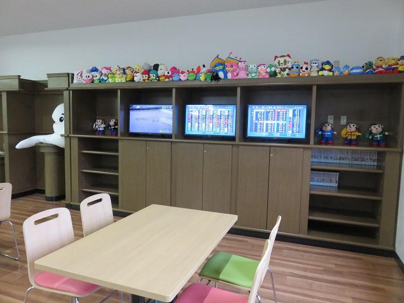 宮島競艇場の4階指定席フロアにある「わくわくルーム」