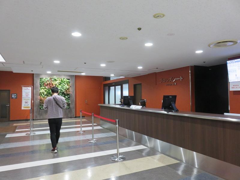 宮島競艇場の4階指定席ブロンズシートの入り口