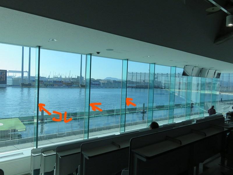 丸亀競艇場の2階一般席から見た水面