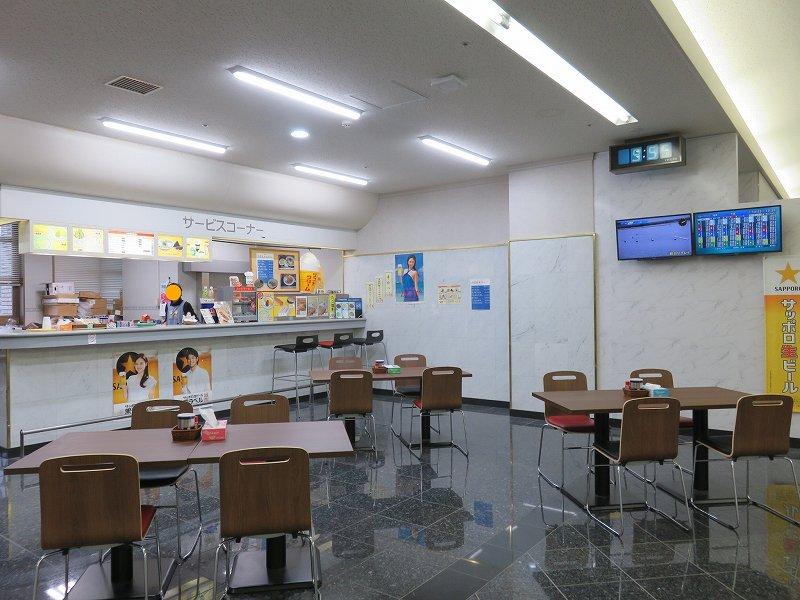宮島競艇場の4階指定席フロアにある食堂「カフェ・ヴェッセル」