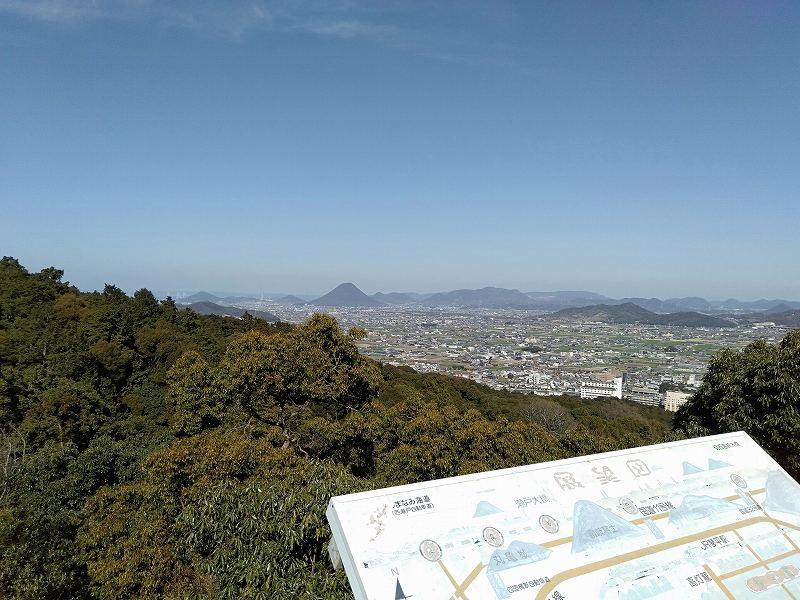 金刀比羅宮から見た丸亀市内
