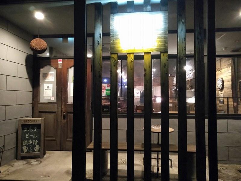 丸亀市のクラフトビール醸造所「MARUGAME MIROC BREWERY」の入り口
