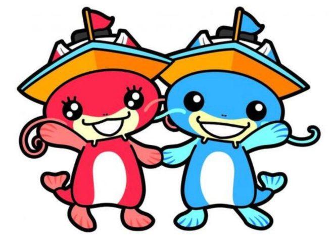 ボートレースびわこのマスコットキャラクター「ビナちゃん」と「ビーナスちゃん」
