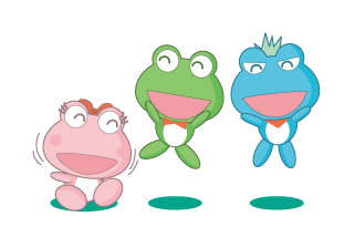 ボートレース尼崎のマスコットキャラクター「センプル」「ピンクル」「ぶるたん」