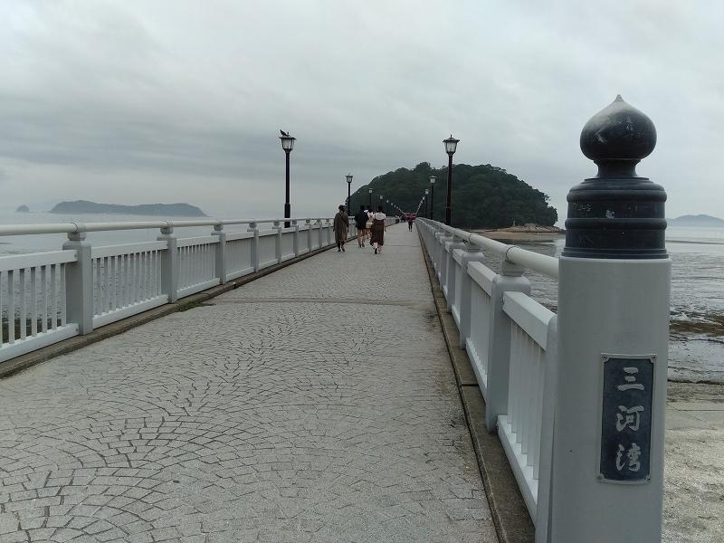 蒲郡の竹島へわたる橋