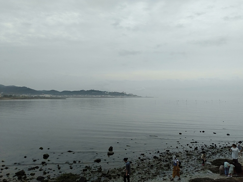 蒲郡の竹島にある遊歩道から見える景色