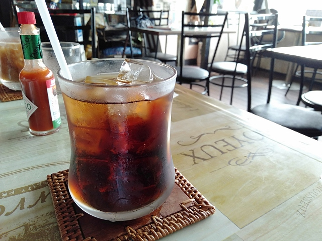 蒲郡駅前の喫茶店「茶太郎」のアイスコーヒー
