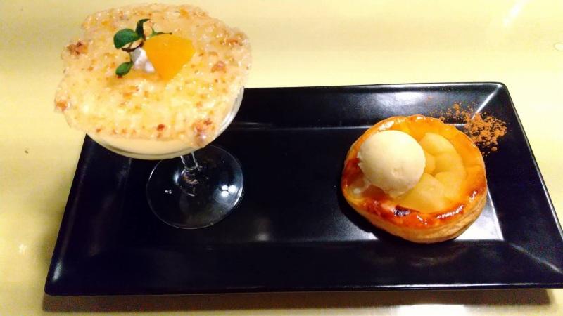 伊香保温泉の洋風旅館ぴのんの夕食のデザート