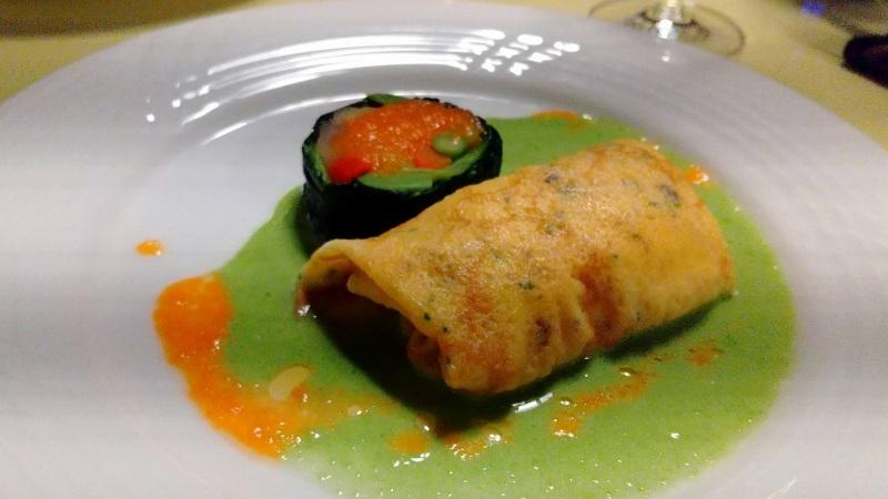 伊香保温泉の洋風旅館ぴのんの夕食の魚料理