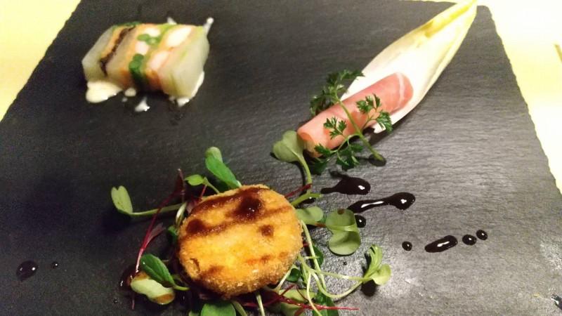 伊香保温泉の洋風旅館ぴのんの夕食の前菜