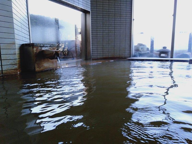 伊香保温泉の松本楼の8階にある吉祥の湯の黄金の湯