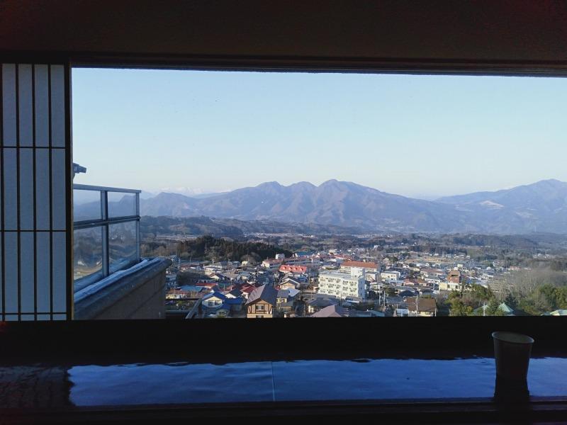 伊香保温泉の松本楼の8階から見える景色
