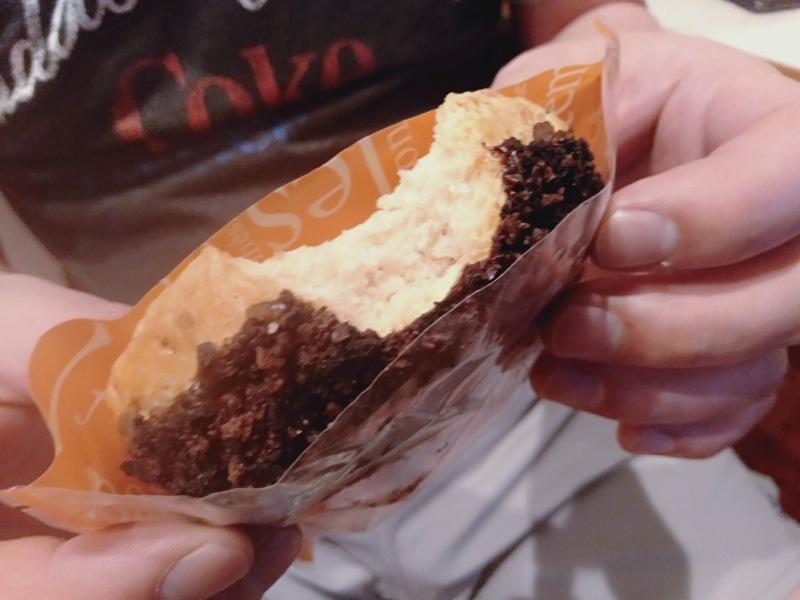 オーシャン東九フェリー「りつりん」の自動販売機で買ったドーナツ