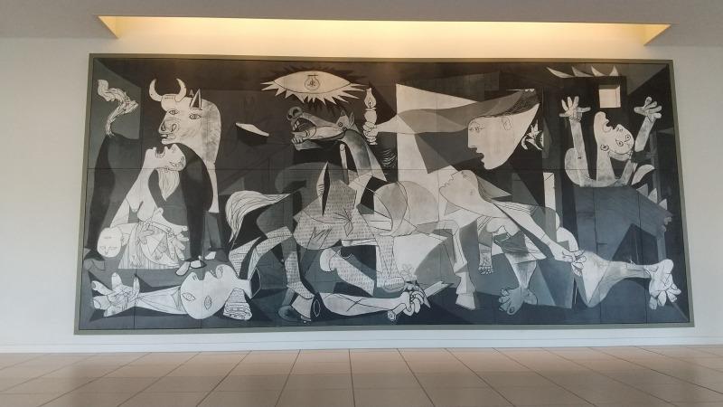 大塚国際美術館に展示されているピカソの「ゲルニカ」