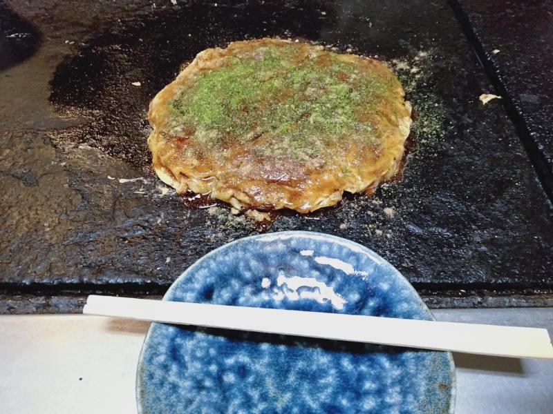 徳島市のお好み焼き屋「いか十」の「豆天玉」