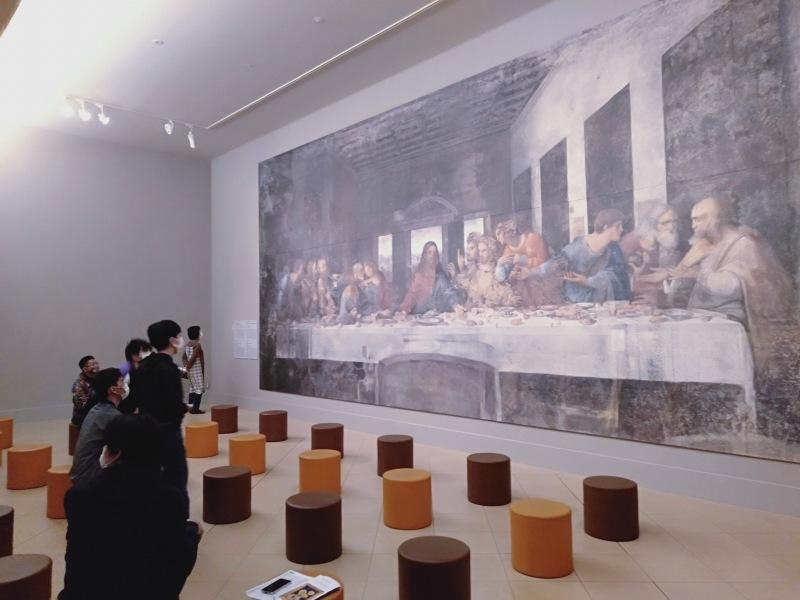 大塚国際美術館に展示されているレオナルドダヴィンチの「最後の晩餐」