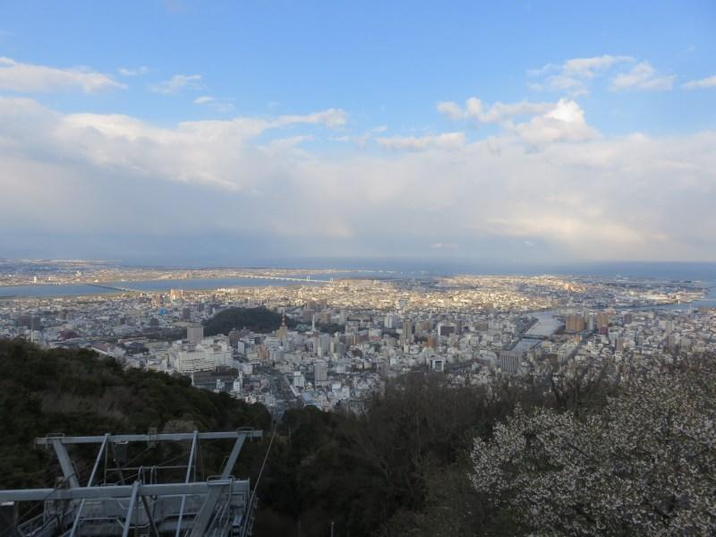 徳島市の眉山からの眺め