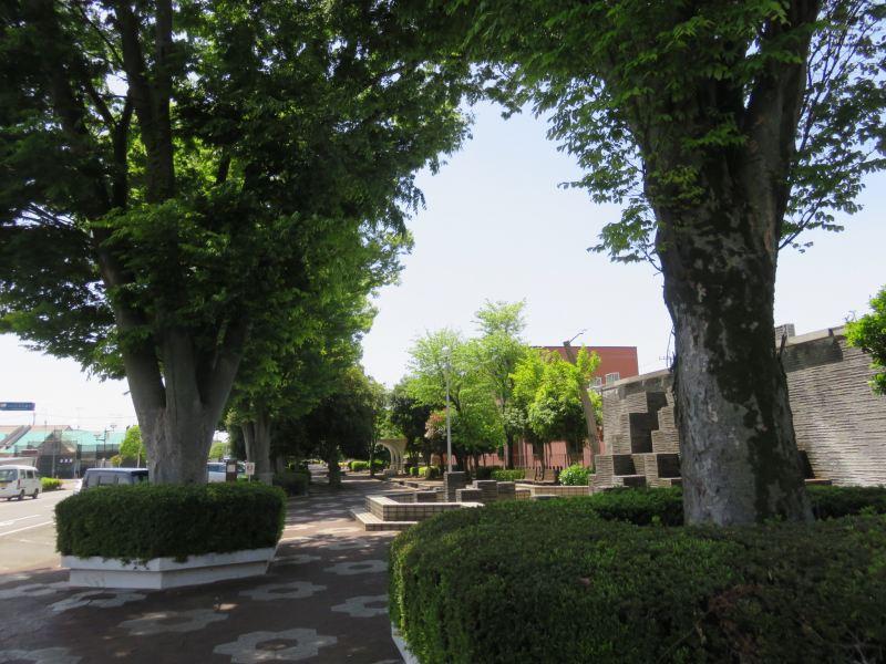 東武小泉線西小泉駅の駅前の緑道