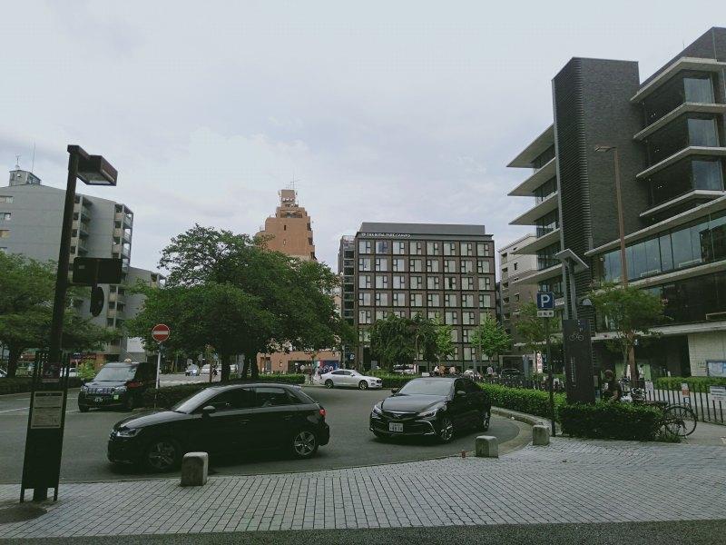 二条駅から見える「ザロイヤルパークキャンバス京都二条」
