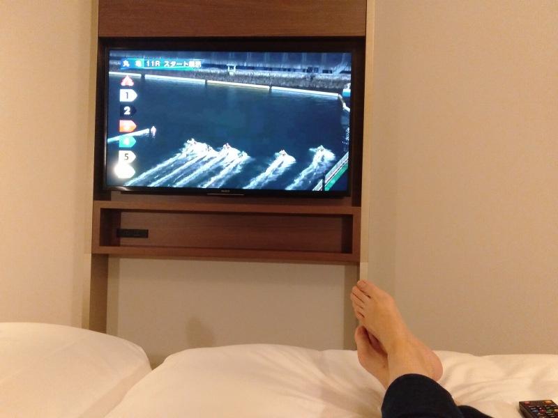 ザロイヤルパークキャンバス京都二条のスタンダードツインのテレビ